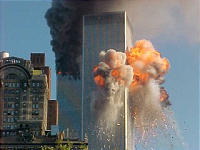 Burning Trade Centers